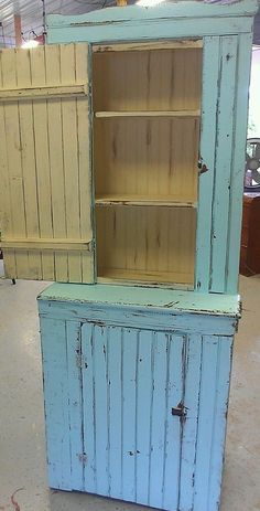 Old reclaimed wood barn door wall cabinet with wainscoting - Wainscoting kitchen cabinets ...