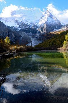 Yading Nature Reserve - a mountain sanctuary and major Tibetan pilgrimage site, Sichuan, China