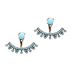 Turquoise Triangle Clusters Earring Jacket
