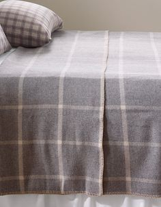 Washable Wool Blanket Windowpane Blankets Free Shipping At L Bean