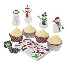 Meri Meri Build A Snowman Cupcake Kit    Divertimenti