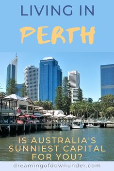 An overview of Perth, Australia lifestyle fro a British expat who's lived there. If you're moving to Australia, find out if this small, pretty Australian city is for you. Learn about Perth weather, lifestyle, beaches, Kings Park, Perth nightlife & nearby holiday destinations such as Rottnest Island & Margaret River! #Perth #WesternAustralia #Australia #expatlife Moving To Australia, Perth Australia, Coast Australia, Australia Living, Australia Travel, Western Australia, Fly To Bali, Living In Adelaide, Scarborough Beach