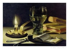 Still-Life with Burning Candle, 1627 Stampa giclée