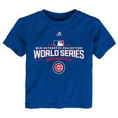 Majestic Chicago Cubs Toddler Royal 2016 World Series Bound T-Shirt #cubs #mlb #baseball