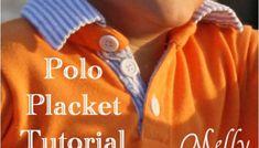 Polo Shirt Placket Tutorial