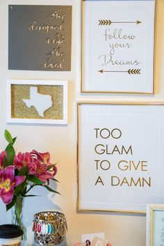 Boring office got you down? Houston, Texas blogger Dawn Darnell is taking over our blog to show you how to take your workspace from bland to glam! Whether you'r