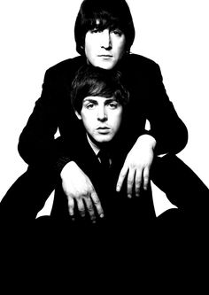 John Lennon & Paul McCartney, 1965 by David BAILEY