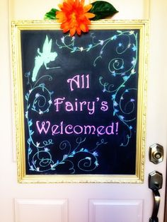 Welcome Sign at a Fairy Garden Party #fairy #party