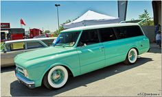 1967 Chevy Suburban....nice but the tint needs to go