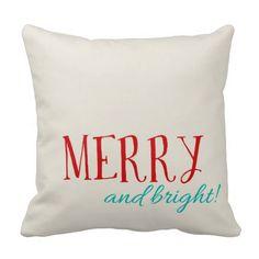 Almohada de tiro feliz y brillante del navidad del