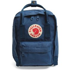 Women's Fjallraven 'Mini Kanken' Water Resistant Backpack (€56) ❤ liked on Polyvore featuring bags, backpacks, royal blue, fjallraven bag, blue bag, mini bag, day pack backpack and water resistant bag