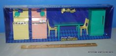 1960s Vintage PENNY BRITE DOLL Kitchen Dinette Set Topper Toys New in Box NRFB!