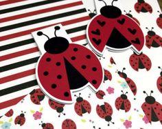 Planner Accessory Bundle - Planner Dashboard, Folder Divider and Magnetic Bookmarks - Ladybird/Ladybug
