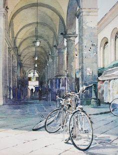 Florence Bikes - watercolour
