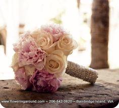 Bridal Bouquet- vintage pink flowers