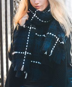 Another great find on #zulily! Navy Plaid Scarf #zulilyfinds