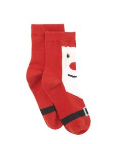 Santa Socks. Ho Ho Ho! Complete a Christmas outfit with these bright, fun socks which feature a large Santa on the front.