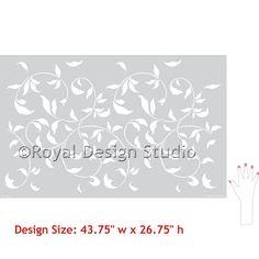 Wall Pattern Stencils   Large Endless Vine   Royal Design Studio