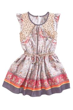 Buy Border Print Tea Dress (3-12yrs) from the Next UK online shop
