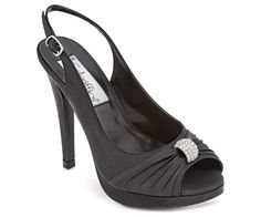 Bellissima Bridal Shoes is a top provider of wedding shoes online. Our selections include a wide selection of heels, flats and sandals from high-end designers. Cute Black Heels, Black High Heels, Black Shoes, Davids Bridal Bridesmaid, Bridesmaid Shoes, Bridesmaids, On Shoes, Me Too Shoes, Shoe Boots