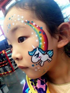 Image result for unicorn face paint