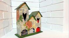 DIY casita para guardar té o infusiones reciclando una caja de cartón