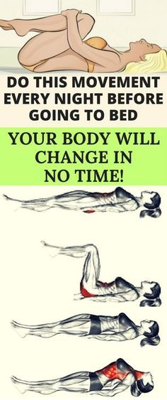 DO THIS MOVEMENT EVERY NIGHT BEFORE GOING TO BED, YOUR BODY WILL CHANGE IN NO TIME! - FHL