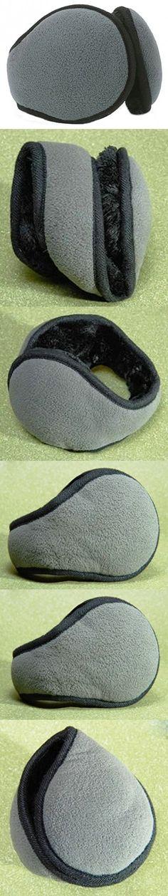 Ilishop Unisex Foldable Ear Warmers Fleece kint Winter Eartmuffs Accessory Outdoor Grey Free