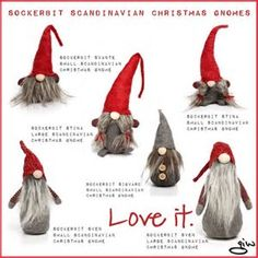 Resultado de imagen de Scandinavian Christmas Gnomes