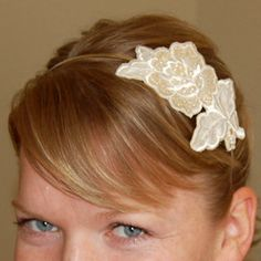 Flower Applique Headband - use a better applique and double headband