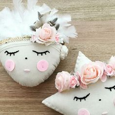 Handmade little crowned star cushions. Made from calico fabric, all hand stitched and stuffed. Comes with removable crown for your little miss to wear as well. They measure around 40cm from point to point. Lots of styles to suit any little misses taste or decor x