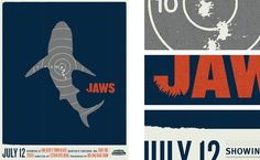 Douglas Richard Design, Jaws Poster Illustration