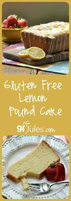 Gluten-Free-Lemon-Pound-Cake-This gluten free lemon pound cake recipe is perfectly tart, sweet and tipsy with the addition of both fresh-squeezed lemon juice and Italian Limoncello! | gfJules.com
