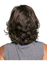 Brown Fashion Curly Synthetic Medium Wigs, Rene Of Paris Medium Topper