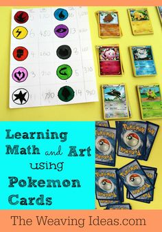 Learning Math and Art using Pokemon Cards