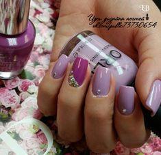 Идеи дизайна ногтей - фото,видео,уроки,маникюр! Lavender Nails, Nail Polish, Nail Polishes, Polish, Manicure, Nail Polish Colors
