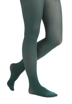 Sprinkle of Style Tights in Juniper. Your top tunes ring out from the radio as you wake up and slip these jewel-toned tights under your favorite frock! Indie Fashion, Vintage Fashion, Green Tights, Cute Tights, Full Length Slip, Jessica Day, Sheer Socks, High Socks, Winter Tights
