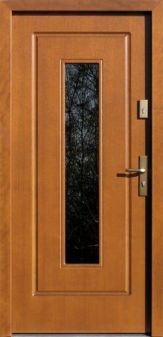 Drewniane wejściowe drzwi zewnętrzne do domu z katalogu modeli klasycznych wzór 572s2