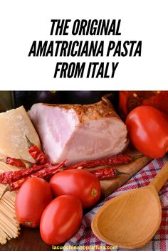 Amatriciana pasta or pasta all'amatriciana is one of the most famous recipes from Italy. It's originated in the city of Amatrice and the original recipe has been protected so that no other sauce can be called Amatriciana if it doesn't follow the rules. Discover more and learn how to make a perfect Italian amatriciana pasta on lcskitchen.com