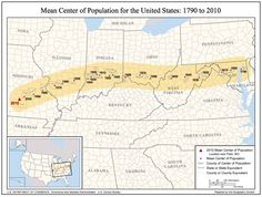 Mean Center of Population for the United S...
