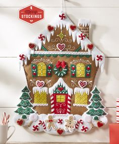 Bucilla Nordic Gingerbread House Advent Calendar Kit