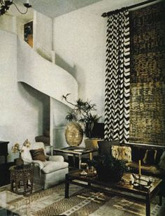 Albert Hadley designed living room