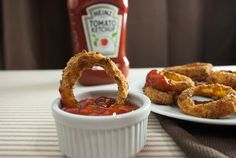 baked onion rings. YUM
