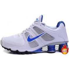 http://www.asneakers4u.com/ Mens Nike Shox Turbo 11 White Blue Black