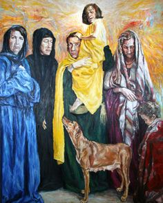 Rob Floyd Fine Art - Stations of the Cross, Christ Meets the Women of Jerusalem (Eigth Station)206cm x 164cm