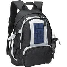 Goodhope 5260 Solar Backpack - Black with FREE Shipping & Returns. Travel in eco-savvy style with this solar powered pack. Done in super
