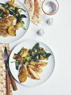 Pollo con espinacas y alcachofas | Recetas para adelgazar
