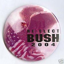 "2004  RARE!  ~  ""RE - ELECT  BUSH  /  2004""  ~  Antiqued  Campaign  Button"