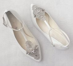 White Bridal Shoes - Bella Belle Shoes