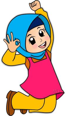 Hijab Cartoon, Cartoon Boy, Islamic Cartoon, Girl Clipart, Muslim Girls, Fabric Painting, Islamic Art, Eid, Ramadan